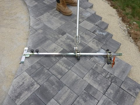 How To: Easy Way to Mark Paver Walkway For Cutting