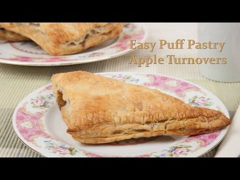 Simple Homemade Puff Pastry Apple Turnovers (Med Diet Episode 106)