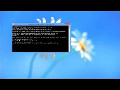 Create MySQL Database via Command Line