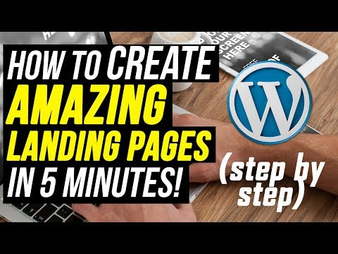 How To Create A Landing Page In WordPress 2018 (In 5 Minutes) | WP Profit Builder Review 2018