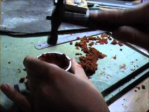making a delft clay mould for casting a ring