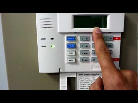 How to turn chime on or off on your Honeywell security system