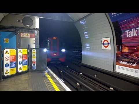 London Underground: Victoria line entering station at fast speed