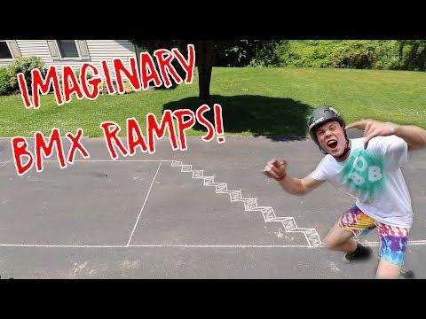 BUILDING IMAGINARY BMX BIKE RAMPS!