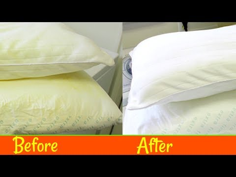 HOW TO WASH YELLOWED PILLOWS: Yellow & Flat to White & Fluffy!  |SolutionsRoom|