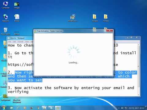 How to change folder color in windows 7,8 and 10