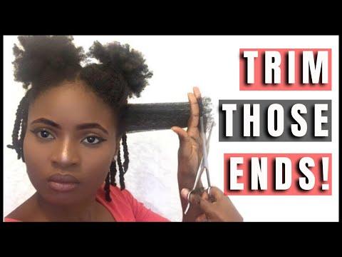 Trimming My 4C Natural Hair | Feyisetan Idowu