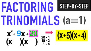 How To Factor A Trinomial When A1 Common Core Algebra