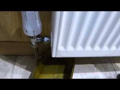 How to remove and replace a central heating radiator for decorating.