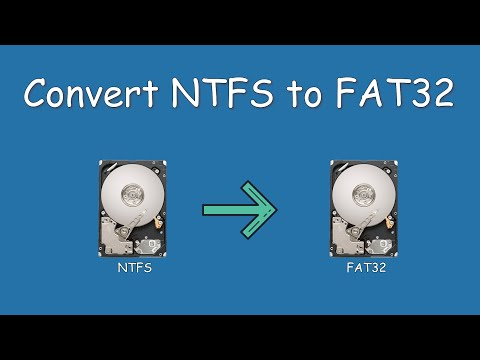 How to convert partition from NTFS to FAT in Win 8