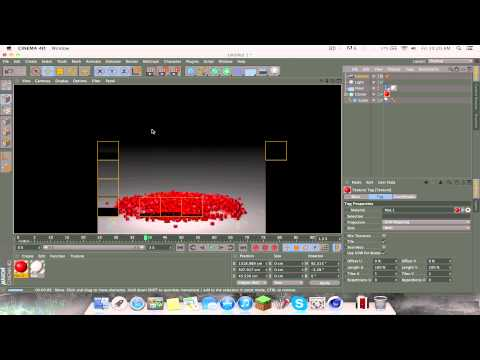 Cinema4d Physics tutorial: how to fill a bowl / how to make cubes fall