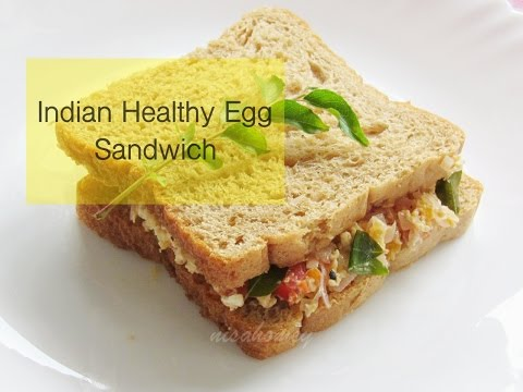 Indian Style Healthy Egg Sandwich Recipe - Egg Bhurji Sandwich - Indian Healthy Breakfast Recipes