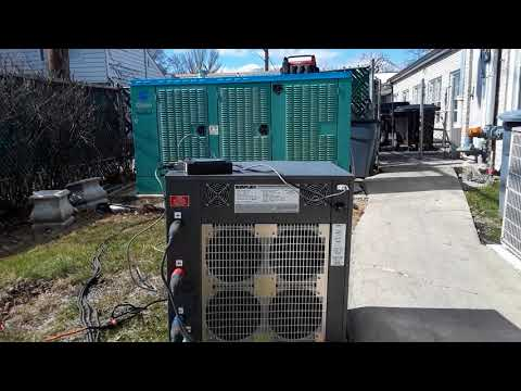 100kw Onan generator load bank test.