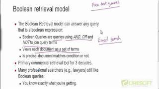 WDM 11: Boolean Retrieval Model