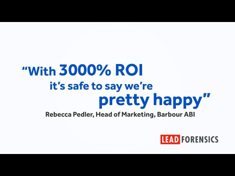 Barbour ABI generate over 1,000 leads using Lead Forensics