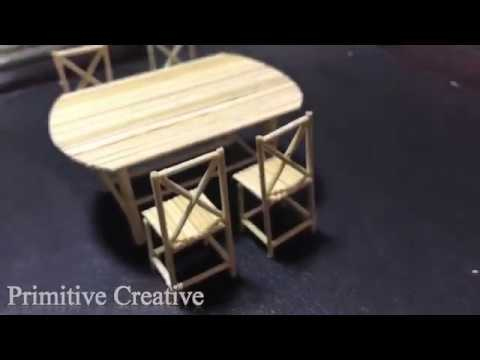 how to make chair and table by useing bamboo / Primitive Creative