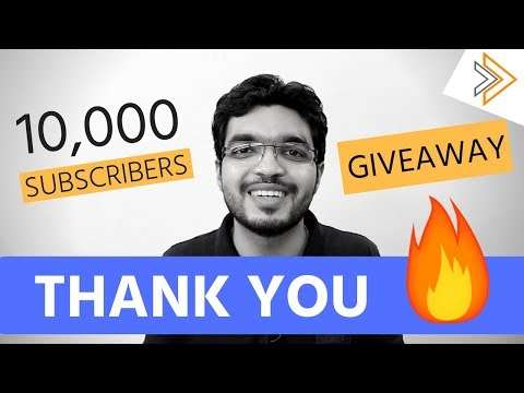 GIVEAWAY + Up to 10,000 Subscribers Journey - Thank you ALL