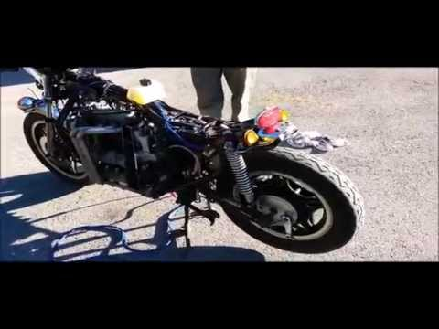 Diesel Motorcycle Test Run   Honda CX500 with Kubota d722
