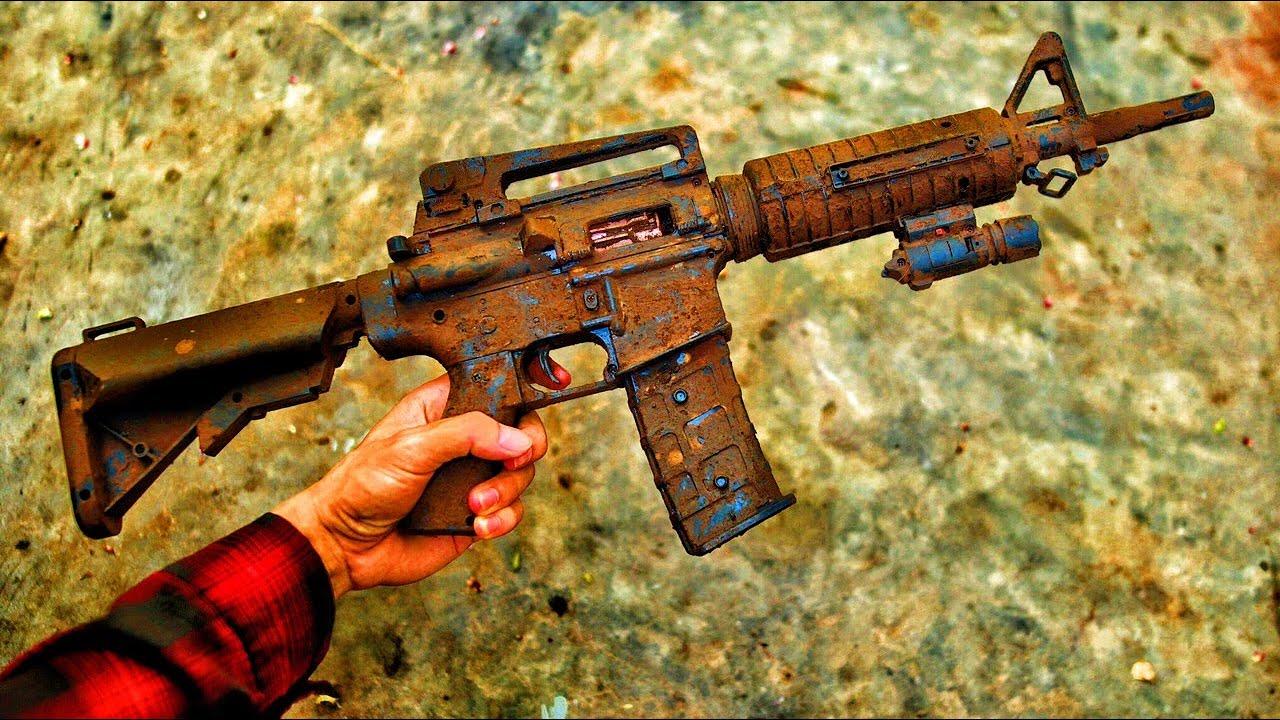 Restoration a very old M16 found in the junkyard   Restore an M16