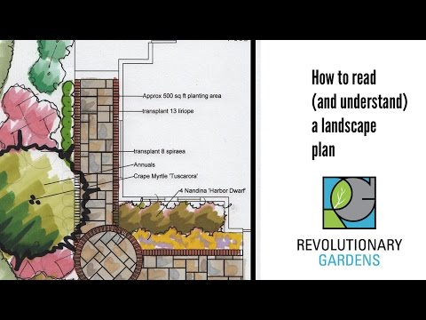 How to read a landscape plan