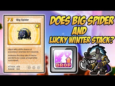 Maplestory: Does Big Spider Familiar & Lucky Winter Stack?