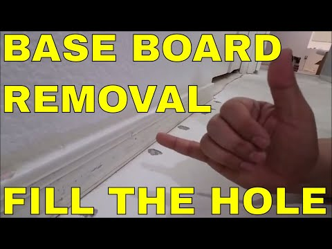 HOW TO REMOVE BASE BOARDS AND FILL TACK STRIP HOLES IN SLIPPERS