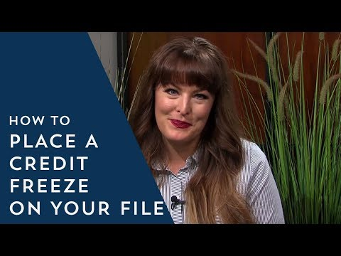 How to Place a Credit Freeze on Your File
