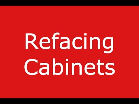 Refacing Cabinets - How To Reface Kitchen Cabinets