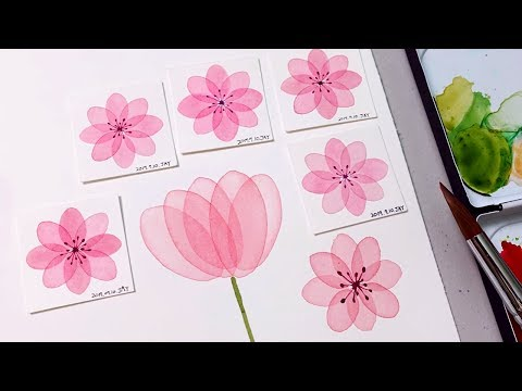 Watercolor Transparent Layering Technique | Step by step Painting Tutorial