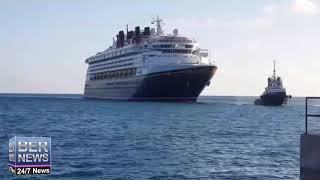 Disney Magic Cruise Ship Arrives In Dockyard, October 6 2018