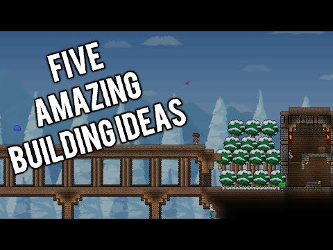 Top 5 Building Ideas in Terraria for when you're out of ideas! [PC, XBOX, PS4, MOBILE, 3DS]