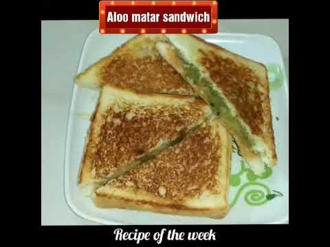 Zatpat banaye Aloo matar sandwich/Aloo matar sandwich on tawa/ spicy aloo matar sandwich/sandwich