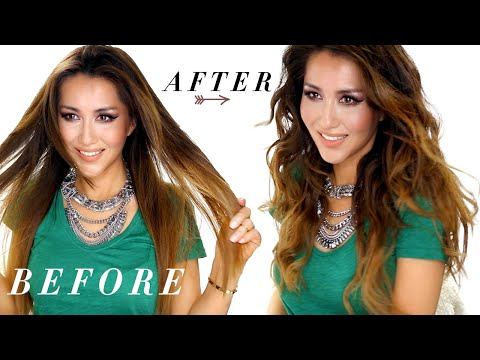 ★ EASY Loose WAVES | Flat Iron Curls | HAIRSTYLES ft Lionesse