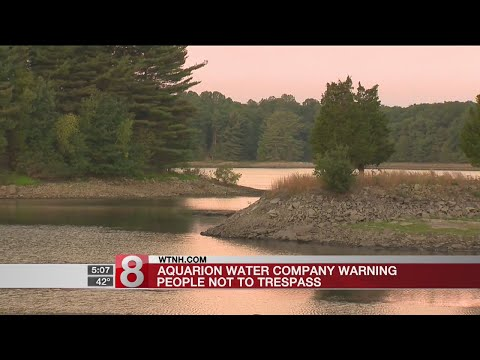 Aquarion Water Company warning people not to trespass