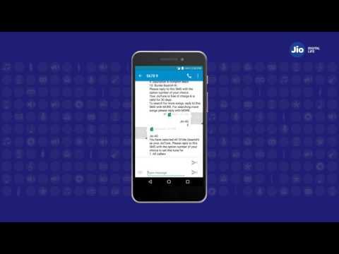 Jio Tunes - How to Activate Jio Tune through SMS (Hindi) | Reliance Jio