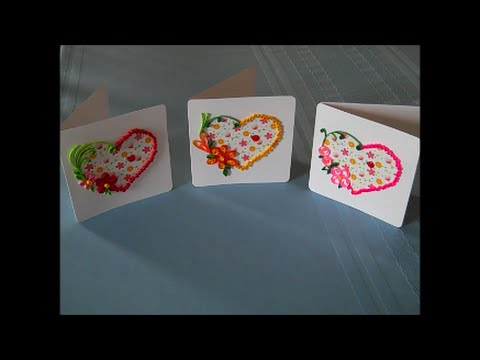 How to Quill Floral Heart Greeting Cards