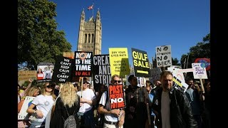 Activists demonstrate in London for climate action - watch live