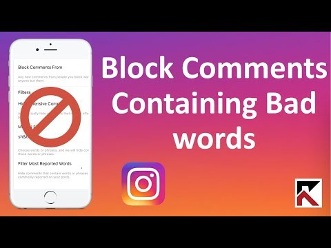 How To Block Comments That Contain Bad Words Instagram