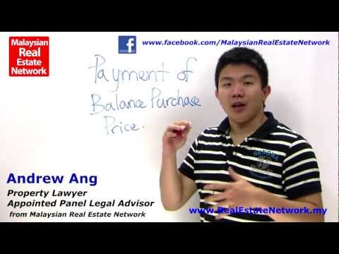 Property Investment Malaysia Legal Tips No 19 - What is Payment of Balance Purchase?