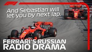 Ferrari Radio Drama   2019 Russian Grand Prix