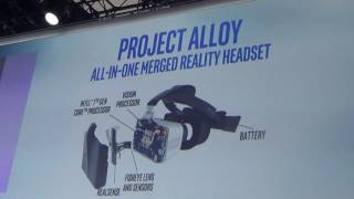 Intel CEO and team demos Project Alloy untethered VR headset @ CES 2017