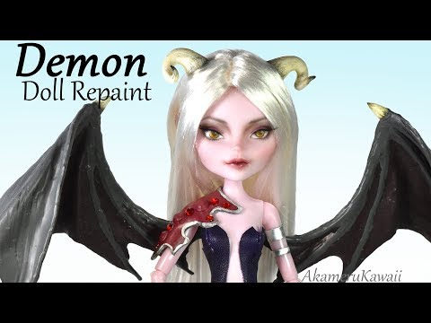 How to: Demon Doll Repaint - Succubus inspired Doll Tutorial