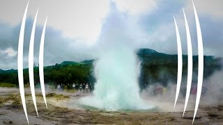 Giant Erupting Icelandic Geyser in BINAURAL Audio - The Sound Traveler
