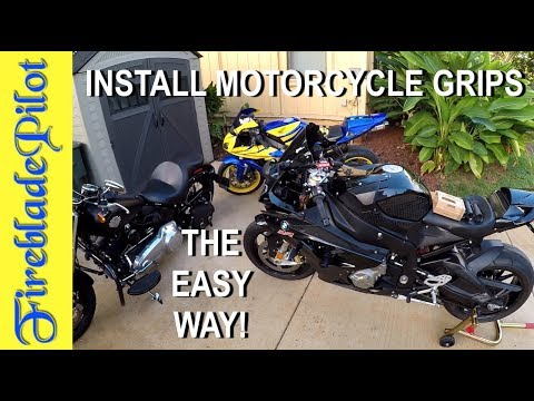 How to Install Motorcycle Grips | BMW S1000RR