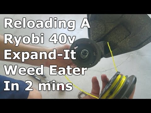 How To Reload Ryobi 40 Volt Expand-It String Trimmer