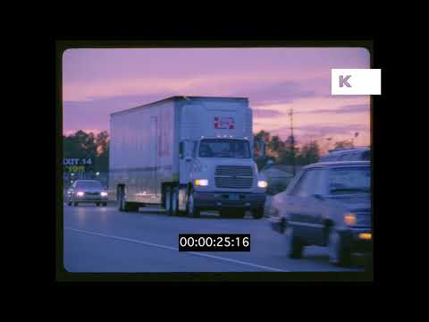 1980s, 1990s North Carolina Highway at Sunset, HD from 35mm | Kinolibrary