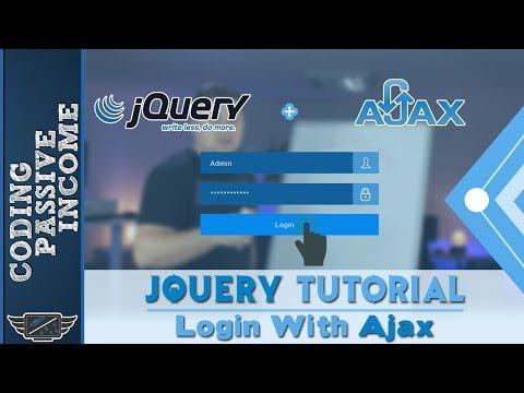 jQuery Tutorial: Create Login Form With Ajax + PHP & MySQL