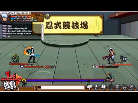 Ninja Saga PvP Me lvl 44 vs lvl 60