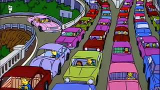 The Simpsons go to Itchy and Scratchy land
