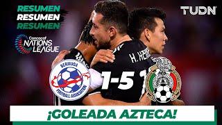 Resumen y goles | Bermudas 1 - 5 México | CONCACAF Nations League | TUDN